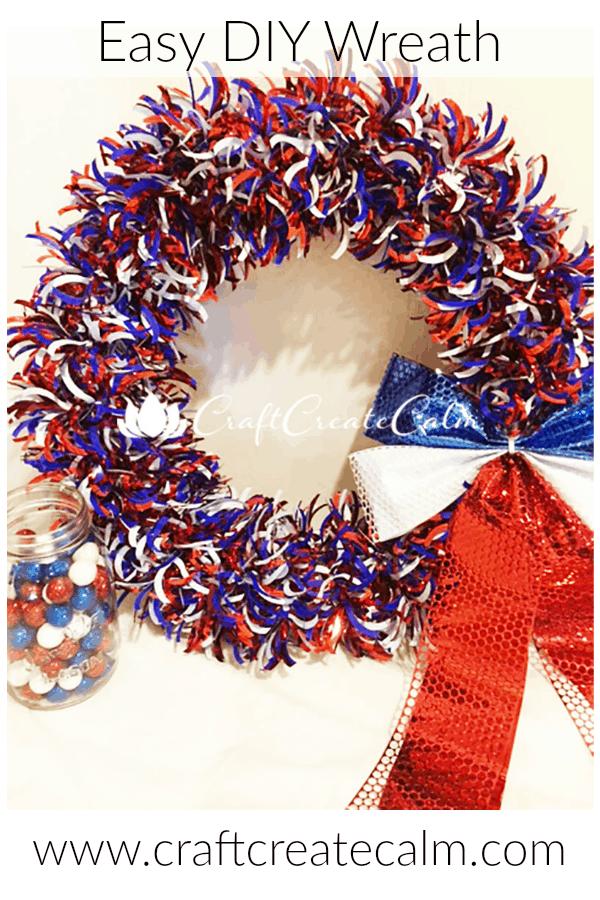 a patriotic wreath diy from craftcreatecalm blog