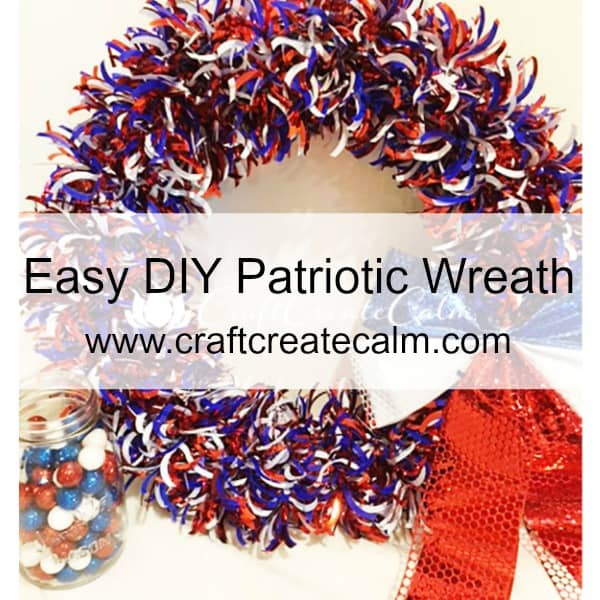 craftcreatecalm, red white and blue wreath