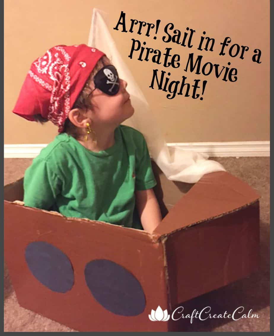 Diy Pirate Ship-Sail in for a Movie Night!