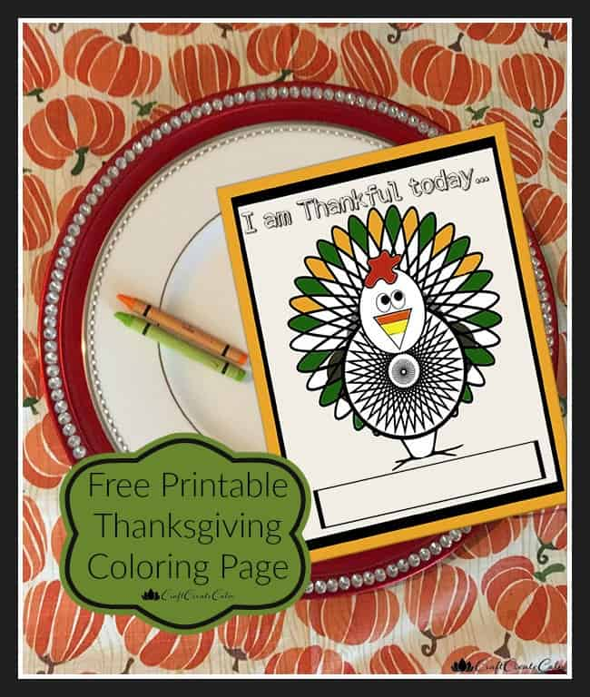 Thanksgiving Kids Table and Turkey Coloring Printable