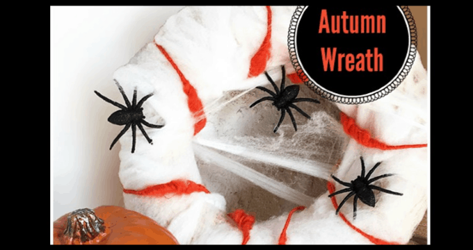 DIY Spider Web Wreath