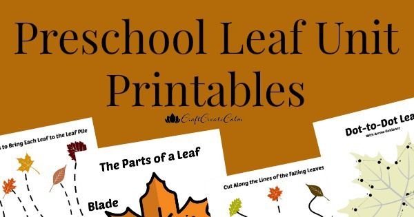 Fall Leaf Lesson with Fall Printables for Preschool!