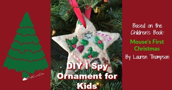 Kids I Spy Christmas Ornament Craft