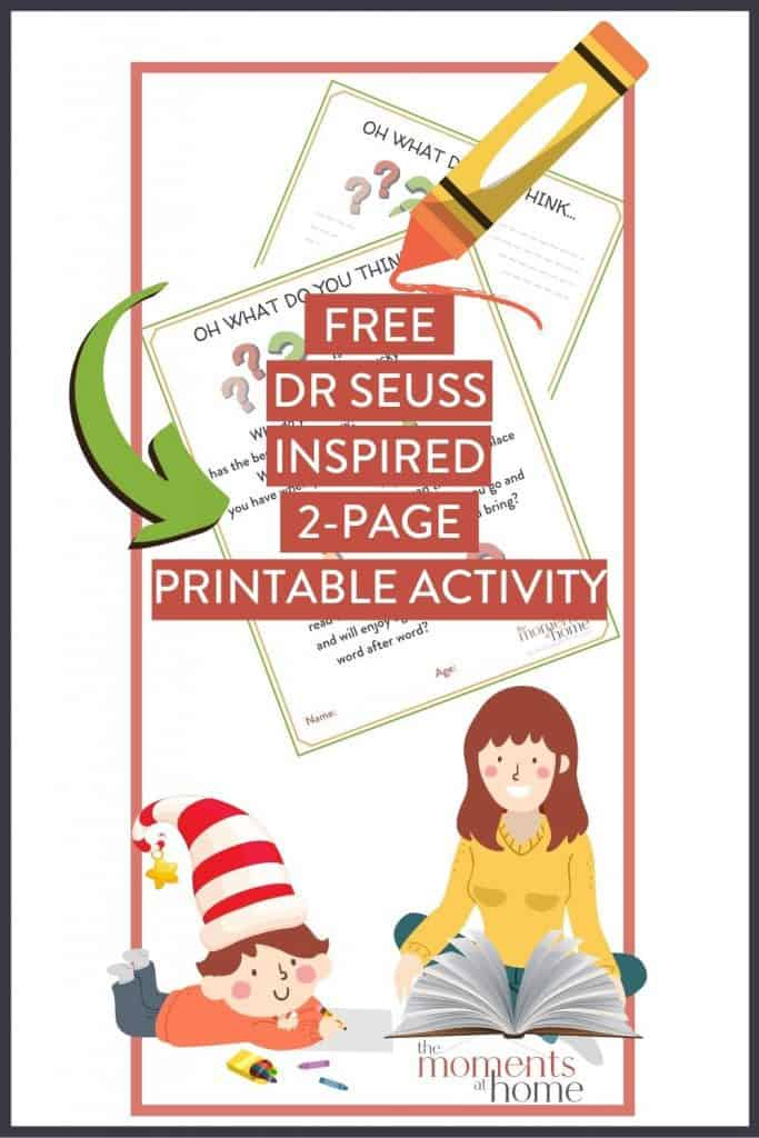 2 page free Seuss inspired activity printable preview