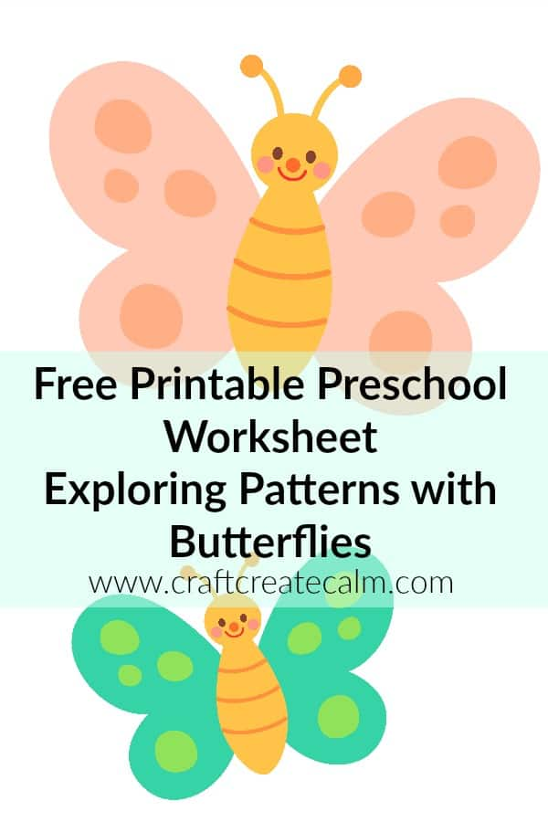 Preschool Pattern Worksheets-Free Butterfly Printables