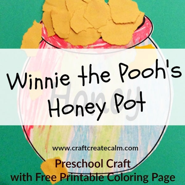 How to make a Winnie the Pooh Preschool Craft