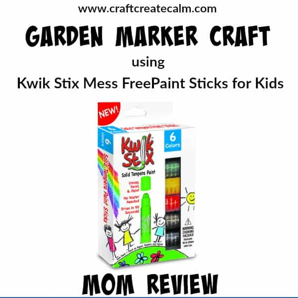 How to make a Garden Marker Craft with Mess Free Paint for Kids