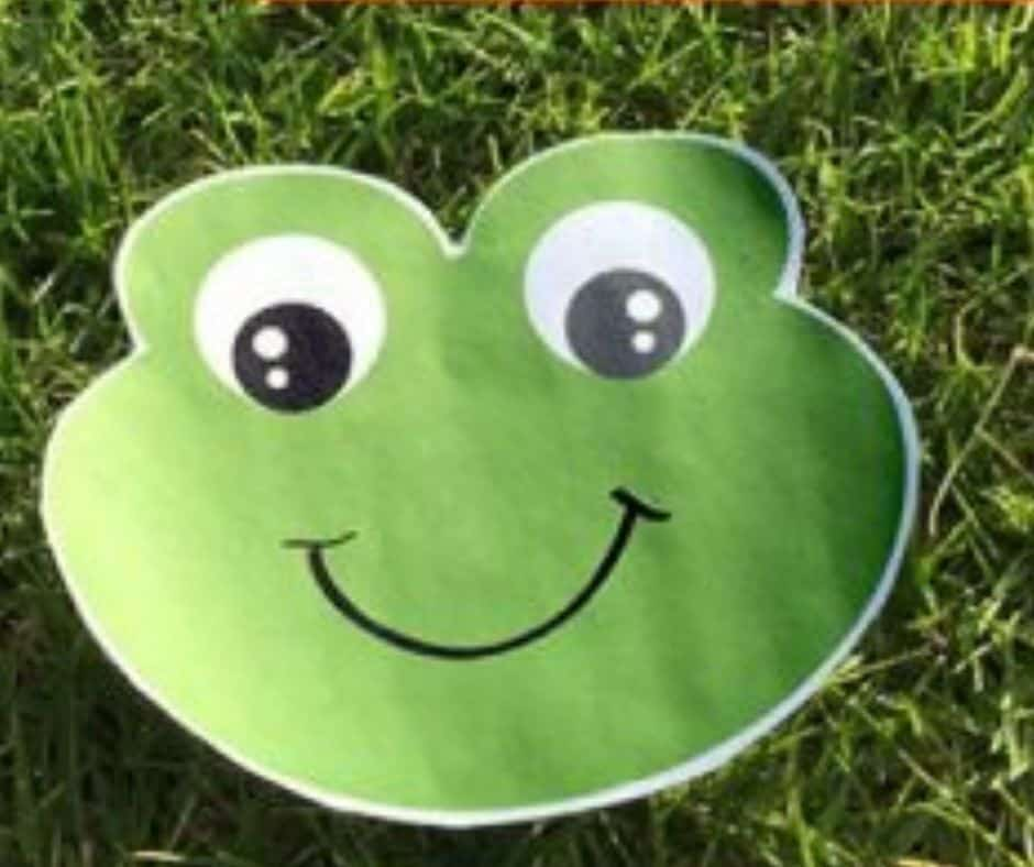frog face to jump over in leap frog for toddler activity
