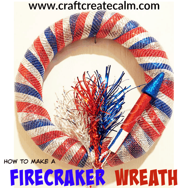 How to make a Red, White and Blue Wreath for 4th of July