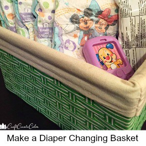 Diaper Basket for Safe and Easy Diaper Changes with Baby