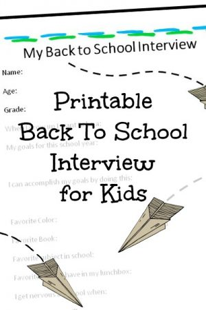 Back to School Interview for Kids