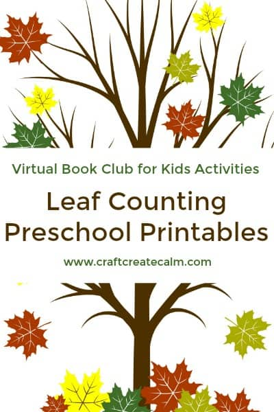 Counting Leaves Printables for Preschoolers