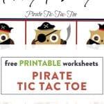 pirate tic toe game printable worksheet