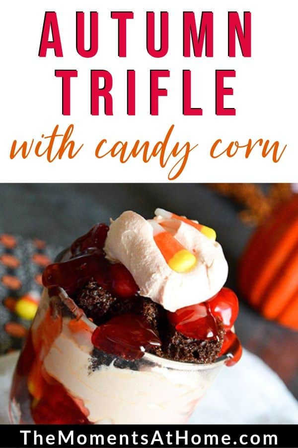 dessert with candy corn