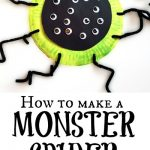 Paper Plate Monster Spider Craft for Kids