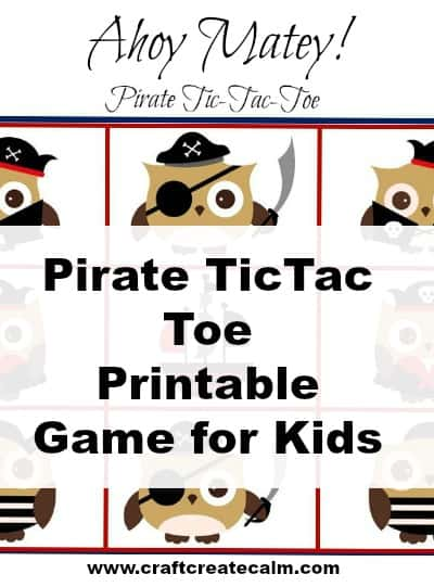 Pirate Printable Tic-Tac-Toe Game for Kids