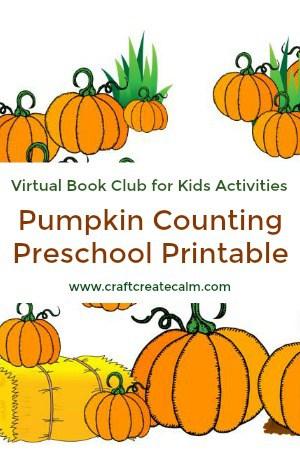 Counting Pumpkins Printable for Preschoolers