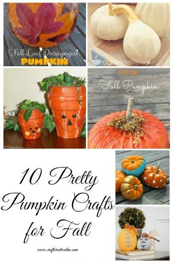 10 Pretty Pumpkin Craft Projects for Fall