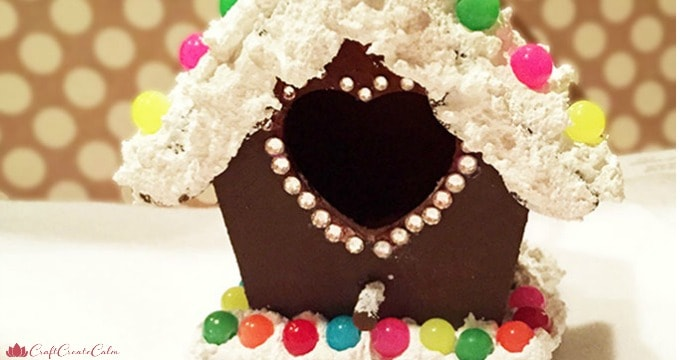 DIY Gingerbread House with Bling + Giveaway