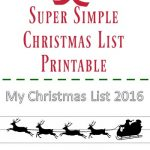 Christmas List Printable for Kids