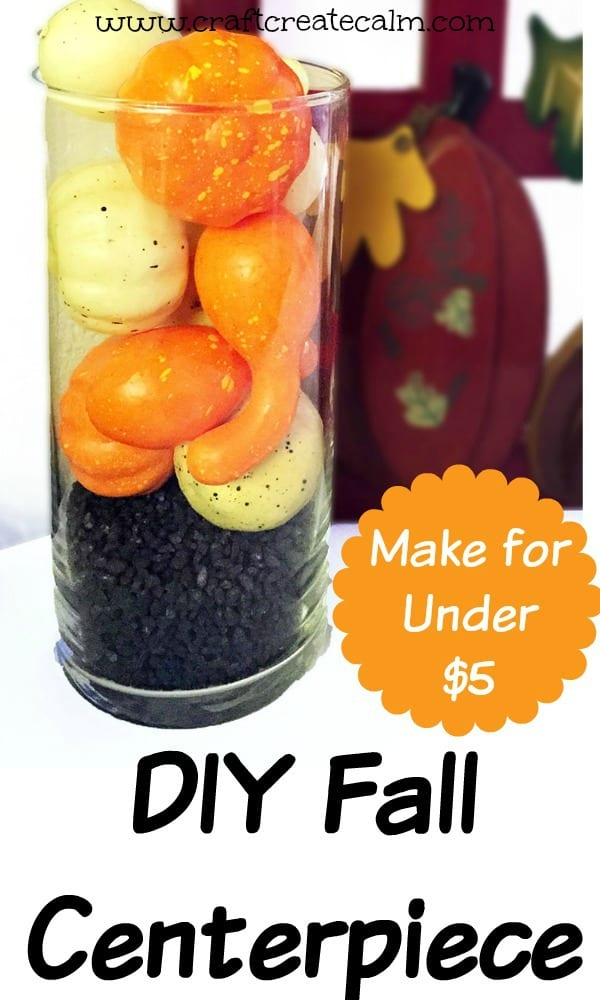 DIY Thanksgiving centerpices for less than five dollar each! Make a simple fall centerpices for a holiday dinner!