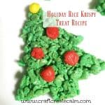 Holiday Rice Crispy Treat Recipe