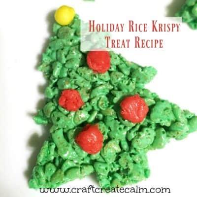 Holiday Rice Krispy Treat Recipe