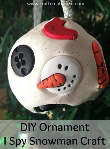 DIY Christmas Ornament I Spy Snowman Craft