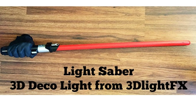 Gift for Tweens: 3D Deco Light Star Wars Light Saber