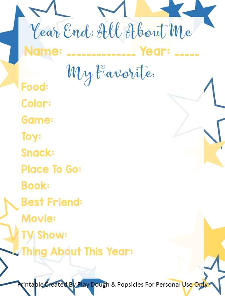 image of downloadable PDF fun New Years sheet for kids