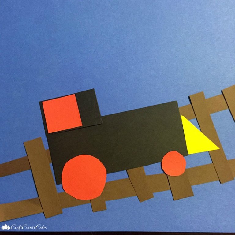 Teach Preschooler's Shapes with a Train Craft
