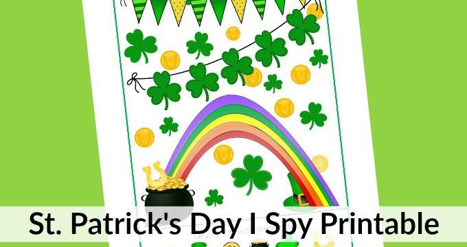 I Spy St. Patrick's Day Printable for Kids