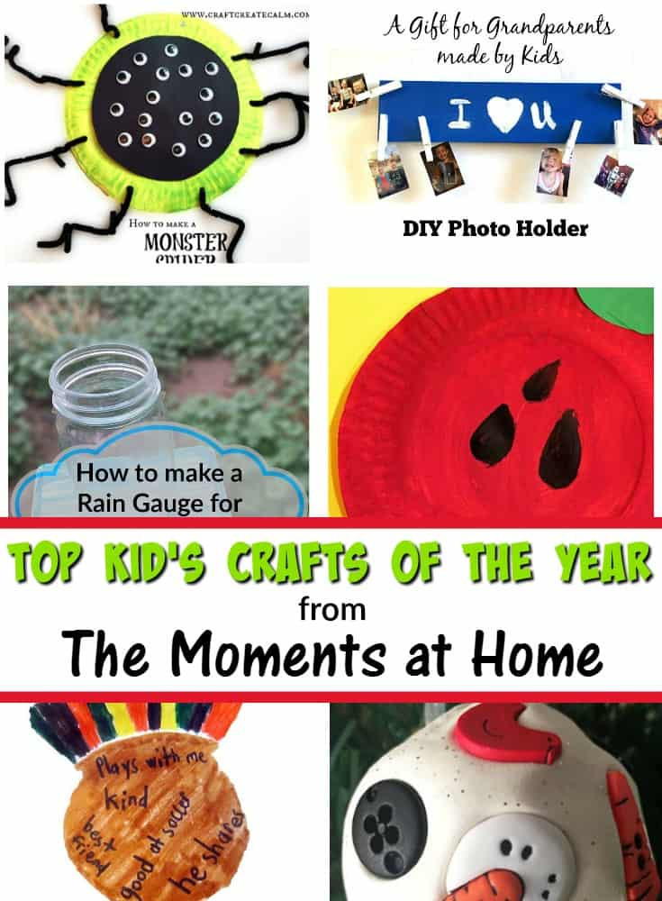 These are the most popular crafts for kids from The Moments at Home! Kid's crafts 2016.