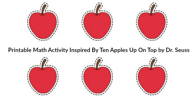 Printable Math Activity Inspired by Ten Apples Up On Top!