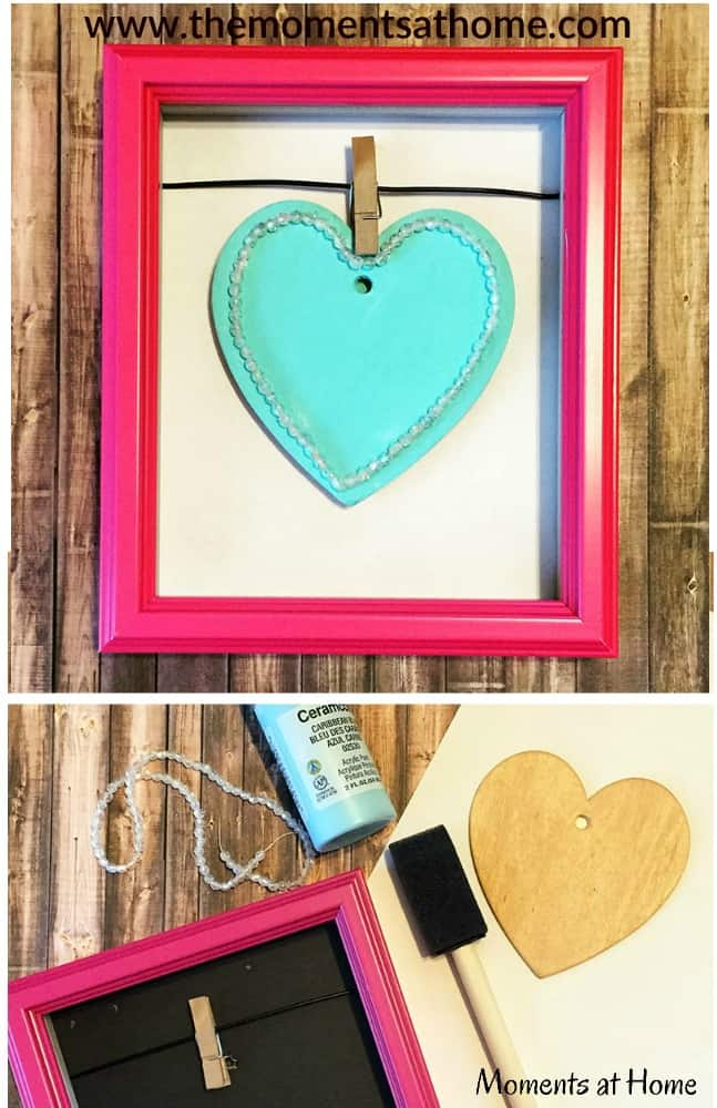 Heart decoration diy. Decorate with hearts for a cute room decor for kids or Valentine's Day decoration.