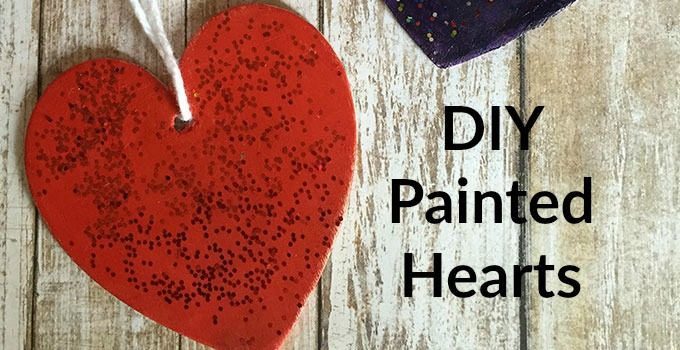 Easy DIY Painted Heart Craft