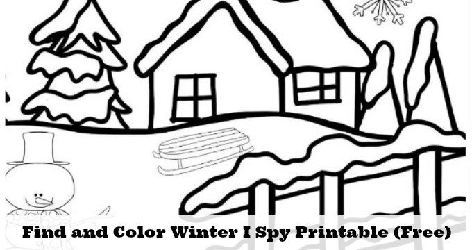 Free Winter Weather I Spy Printable