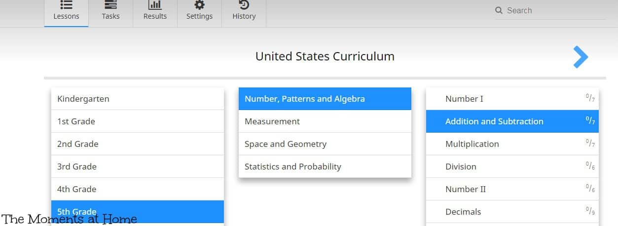 CTCMath Online Math Curriculum Review - The Moments at Home