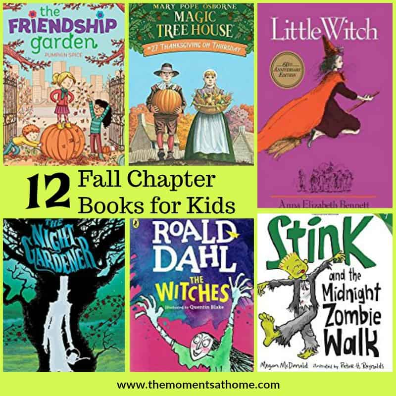Fall chapter books for kids. Halloween and autumn themed books for kids.