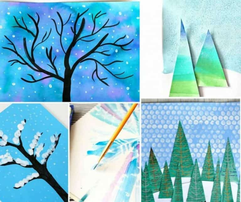 Pretty Winter Art Projects for Kids
