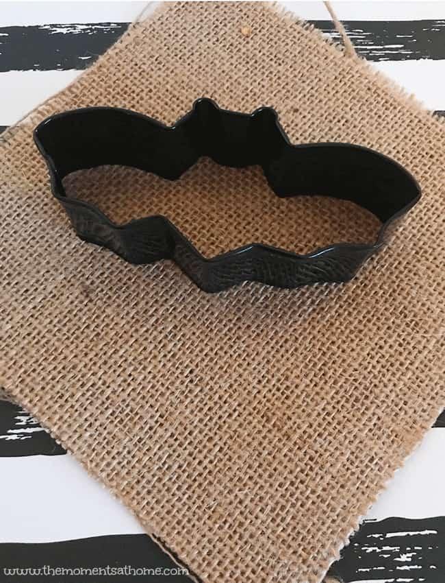 bat banner halloween craft