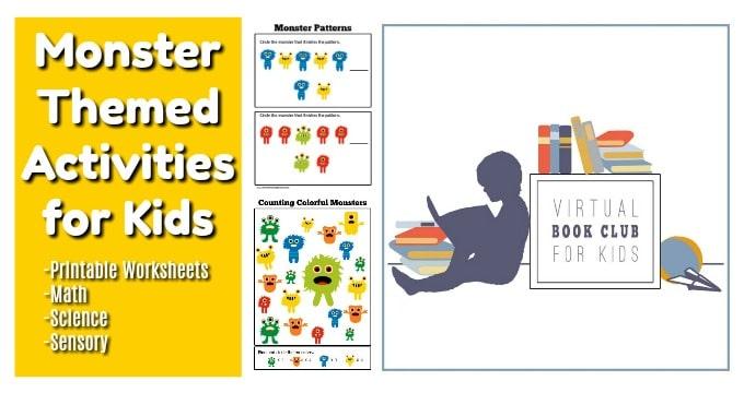 Monster Colors Printable Worksheets for Preschoolers