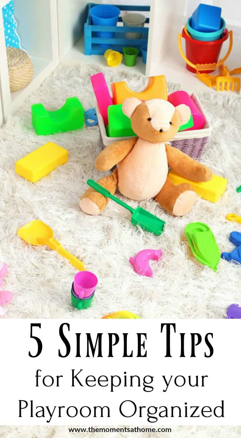 Use these simple tips for keeping your playroom organized. Great tips for parents!