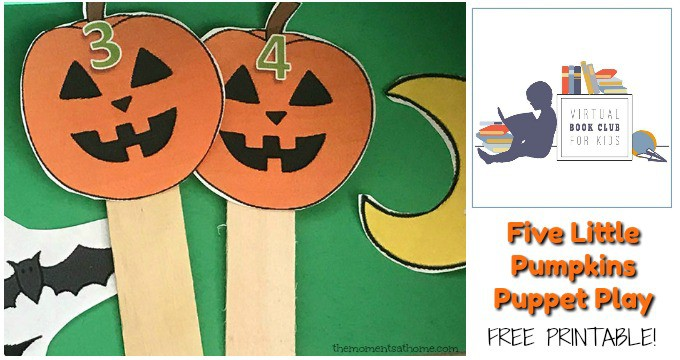 Five Little Pumpkins Puppet Craft DIY Puppets
