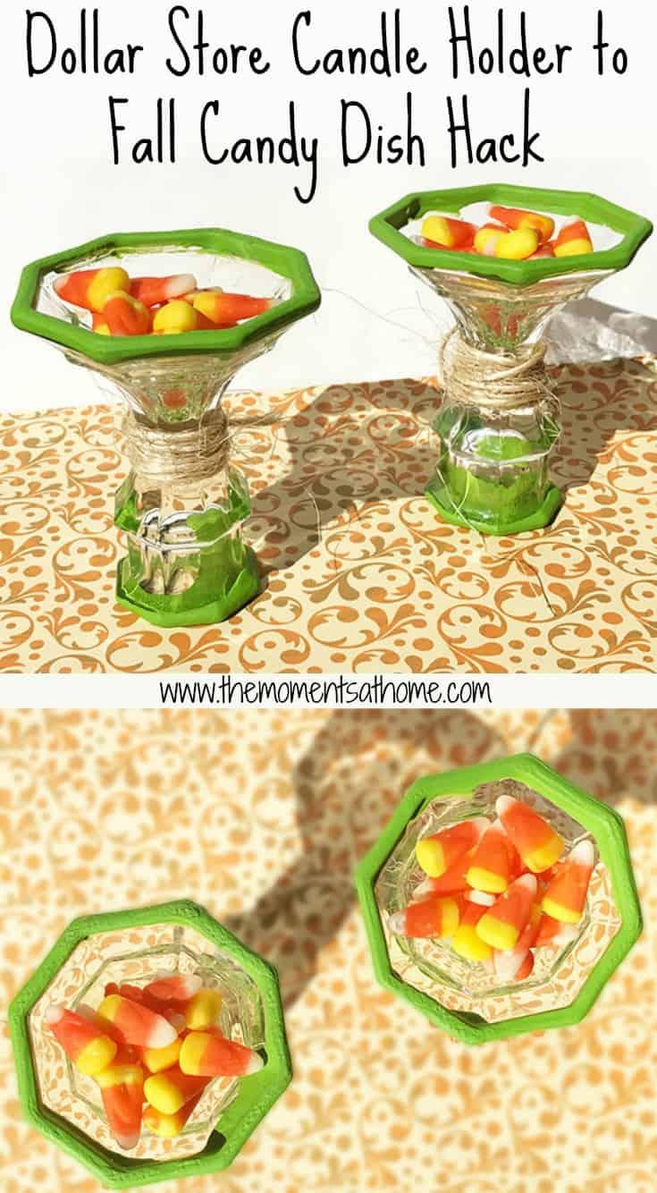 Fall desert table hack made from candlestick holders. DIY desert dish set #thanksgivingdesert #thanksgivingtable #diyfalldecor
