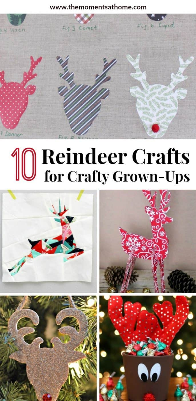 10 reindeer crafts to make this holiday season. Reindeer paper crafts, reindeer decor. #reindeercrafts