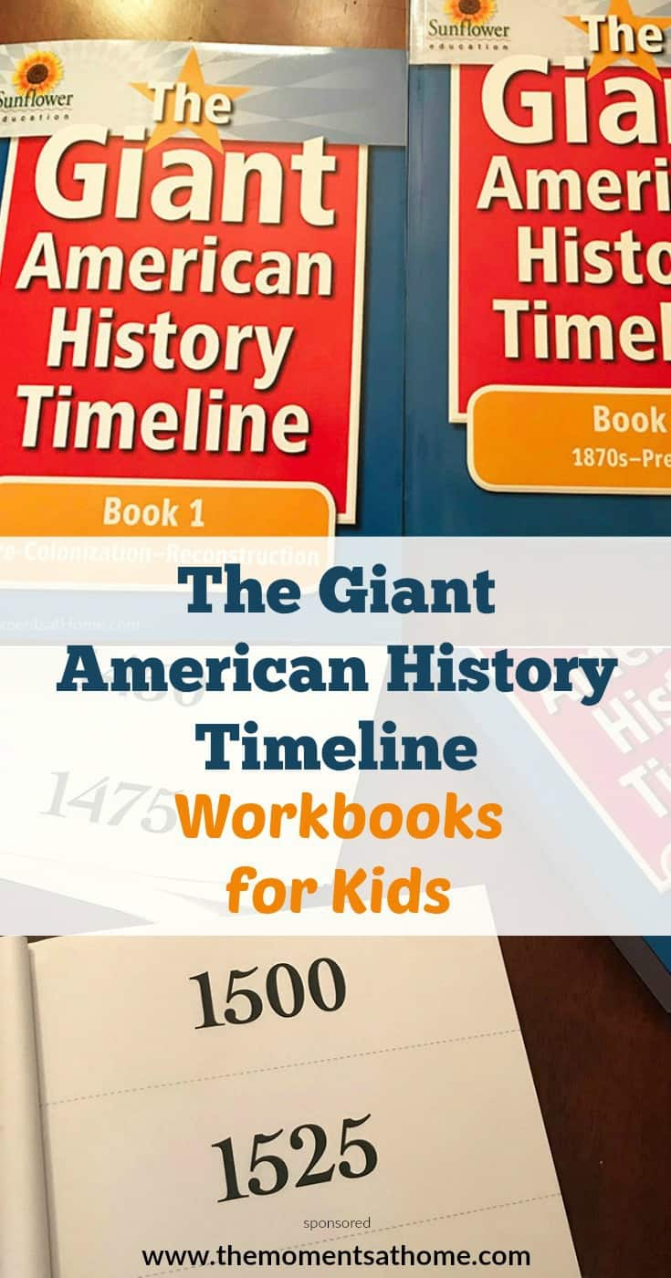 Teaching your kids at home about the American history timeline is fun with this series of workbooks encouraging kids to create a visual timeline of history...