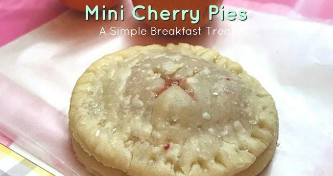 Pretty Mini Cherry Pies for Valentine's Day