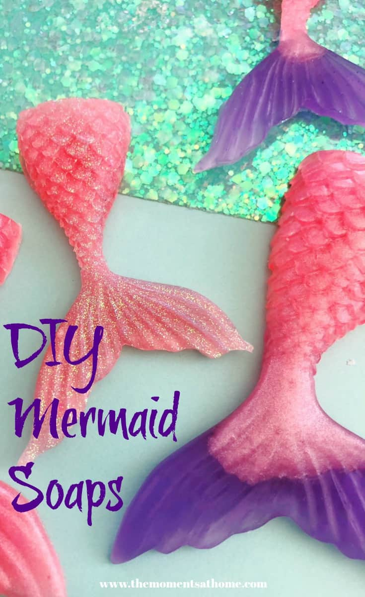 Do-it-yourself mermaid soaps. Mermaid crafts, diy soaps. #mermaids #mermaidcrafts #mermaiddiy
