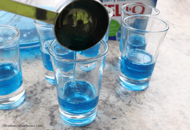 patriotic jello shots, patriotic drinks